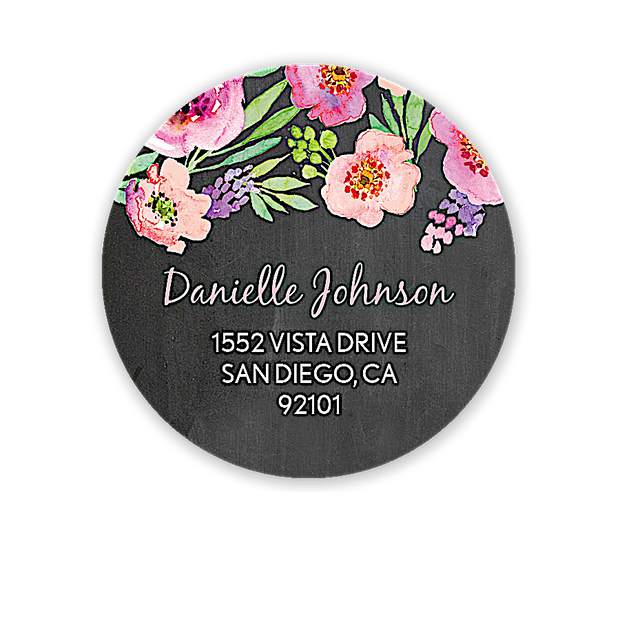 Watercolor Blossom Address Label