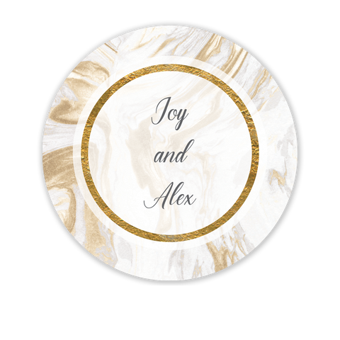 Marbled Elegance Gift Sticker