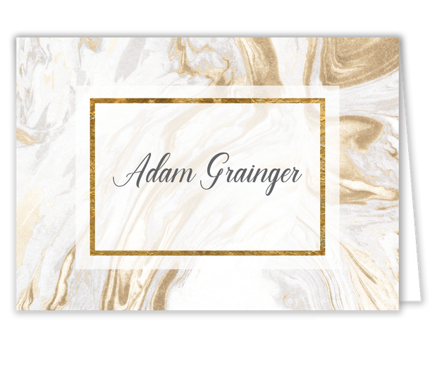 Marbled Elegance Place Card