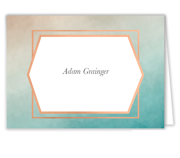 Geometric Ombre Place Card