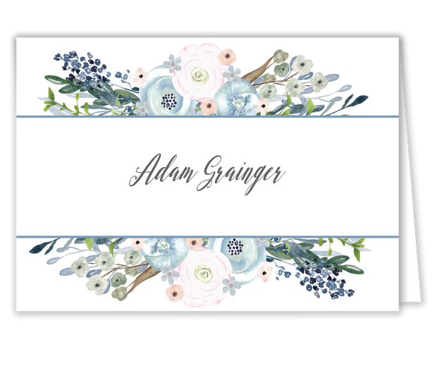 Watercolor Florals Place Card