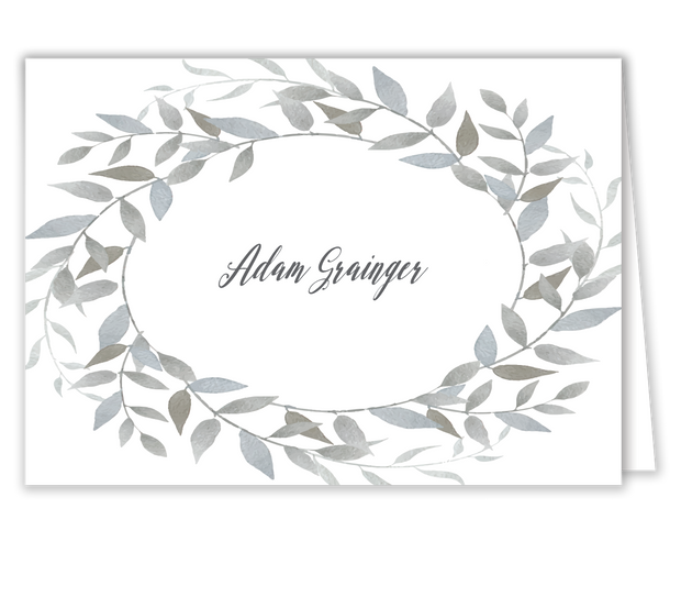 Watercolor Wreath Place Card