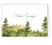 Watercolor Forest Place Card