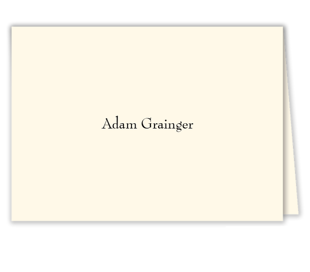 Slanted Script Place Card