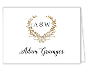 Gleaming Wreath Foil Printing Place Card