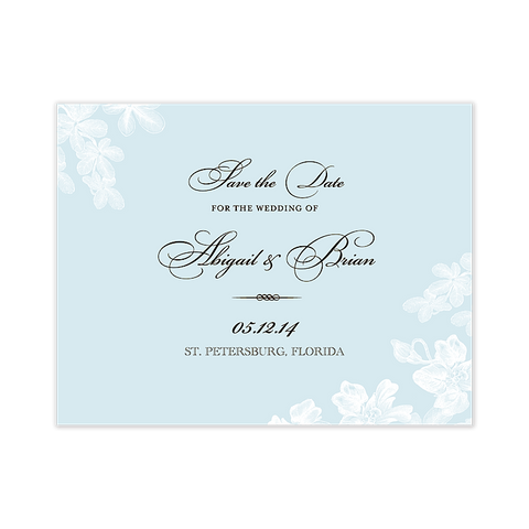 Tropical Garden Save The Date Invitation