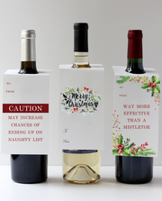 Merry Christmas Reef Wine Tag