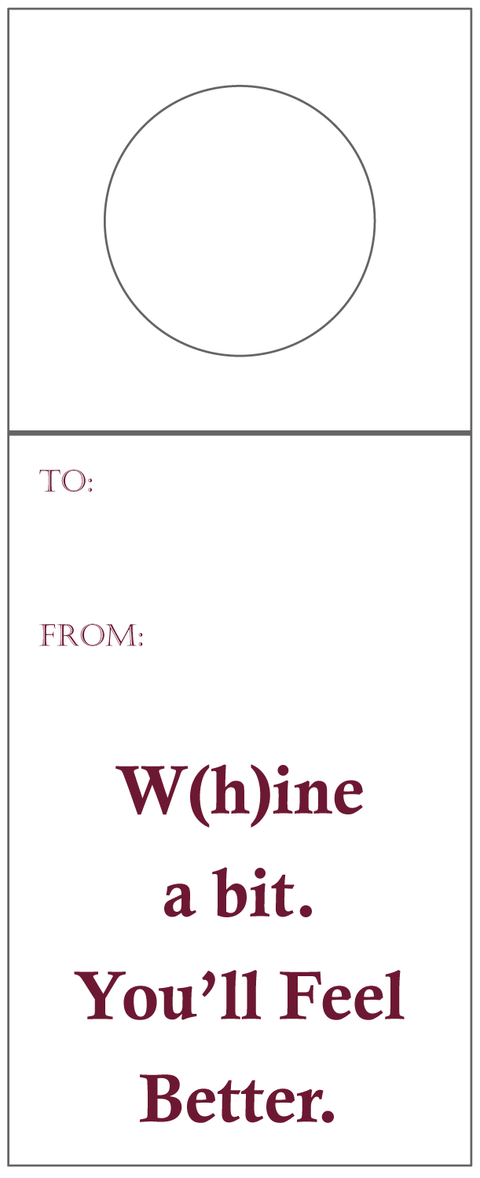 W(h)ine a Bit Bottle Tag - Inviting Treasures