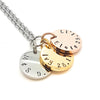 3 Disk Personalized Necklace