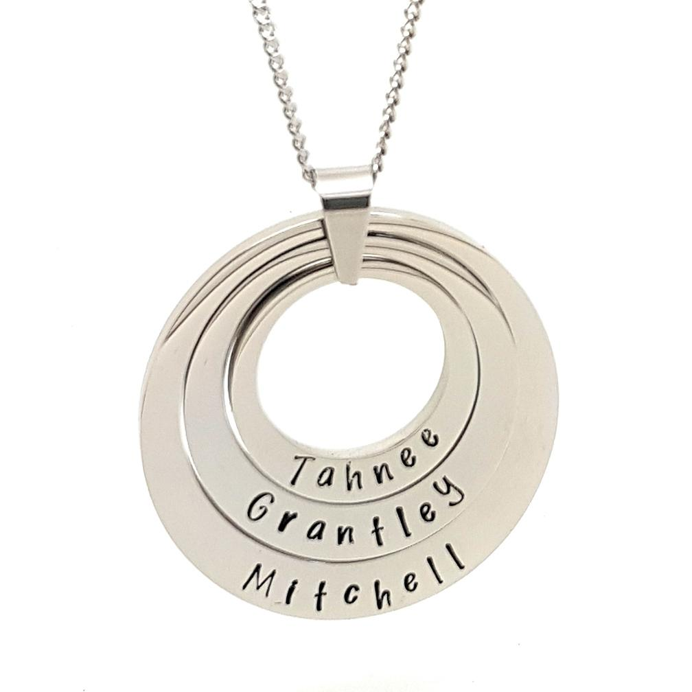 Coorabell Crafts 3 Ring Layered Personalised Pendant