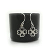 Coorabell Crafts 4 Leaf Clover Heart Earrings Sterling Silver
