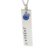 Birthstone Vertical Bar Necklace