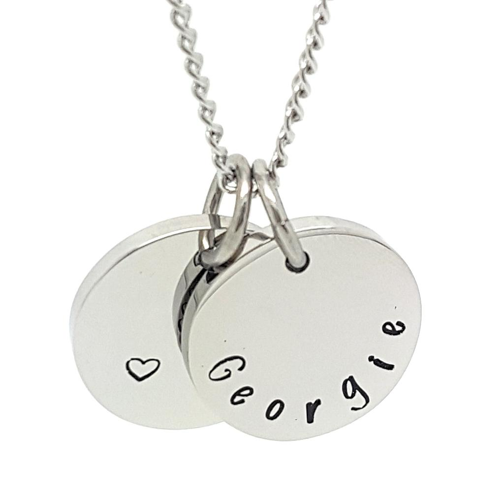Coorabell Crafts Circle Disk Family Names Pendant