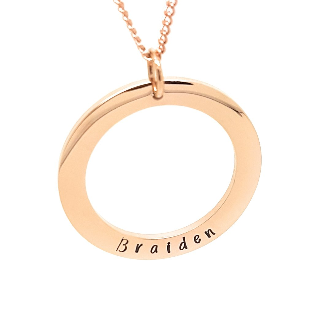 Coorabell Crafts Elegant rose gold minimalist necklace