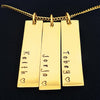 Family Names Multi Bar Necklace