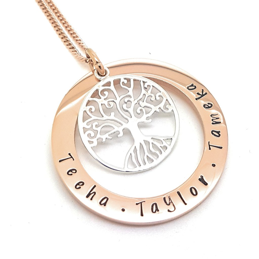 Coorabell Crafts Family Names Tree of Life Necklace