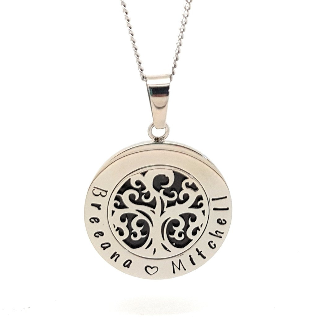 Coorabell Crafts Family Names Tree pendant