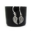 Coorabell Crafts Filigree Leaf Dangle Earrings