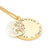 Coorabell Crafts Gold Disk Personalised Necklace with Tree Charm