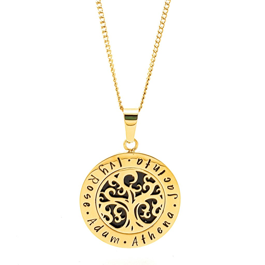 Coorabell Crafts Gold Family Tree of Life Pendant