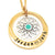 Coorabell Crafts Gold Personalised Pendant with Silver Charm