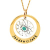 Gold Personalised Pendant with Silver Charm