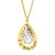 Coorabell Crafts Gold Tear Drop Pendant with Filigree Silver Charm