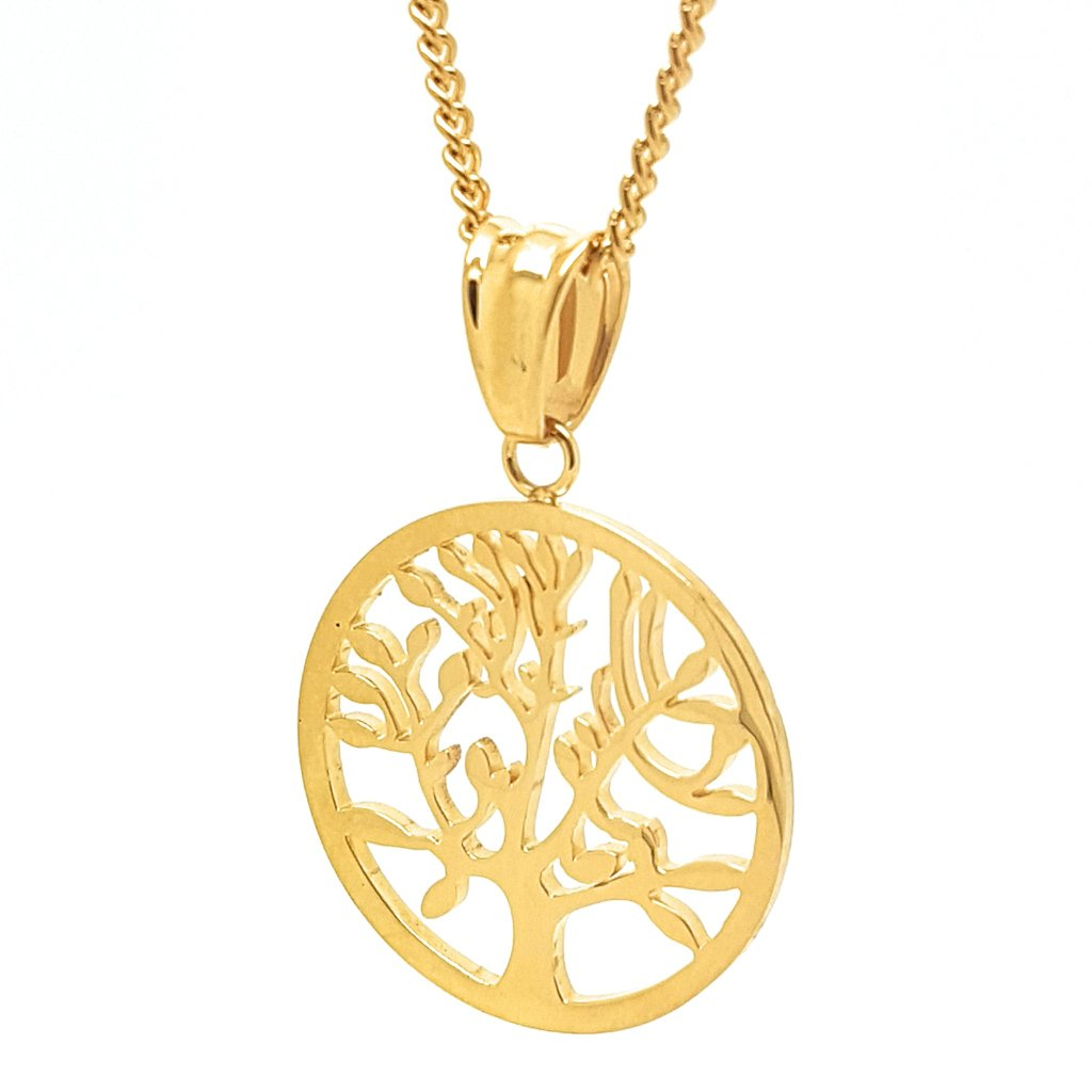 Coorabell Crafts Gold Tree of Life Pendant Charm and Necklace