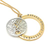 Hand Stamped Gold Names Necklace