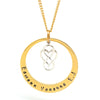 Infinity Love Heart Charm Necklace