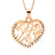 Coorabell Crafts Inscribed Love Heart Filigree Necklace