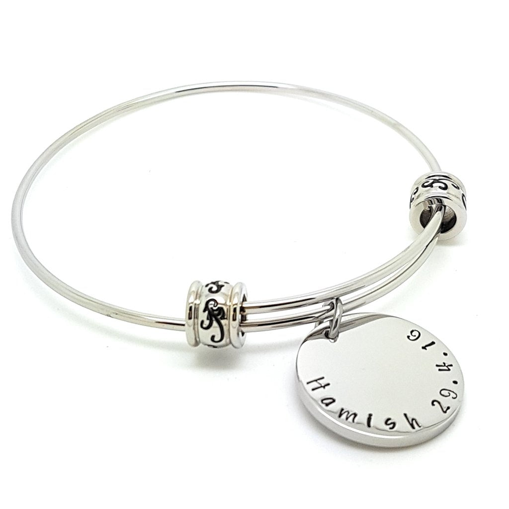 Coorabell Crafts Large Bangle Personalised