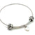 Coorabell Crafts Large Silver Bangle with Heart Charm