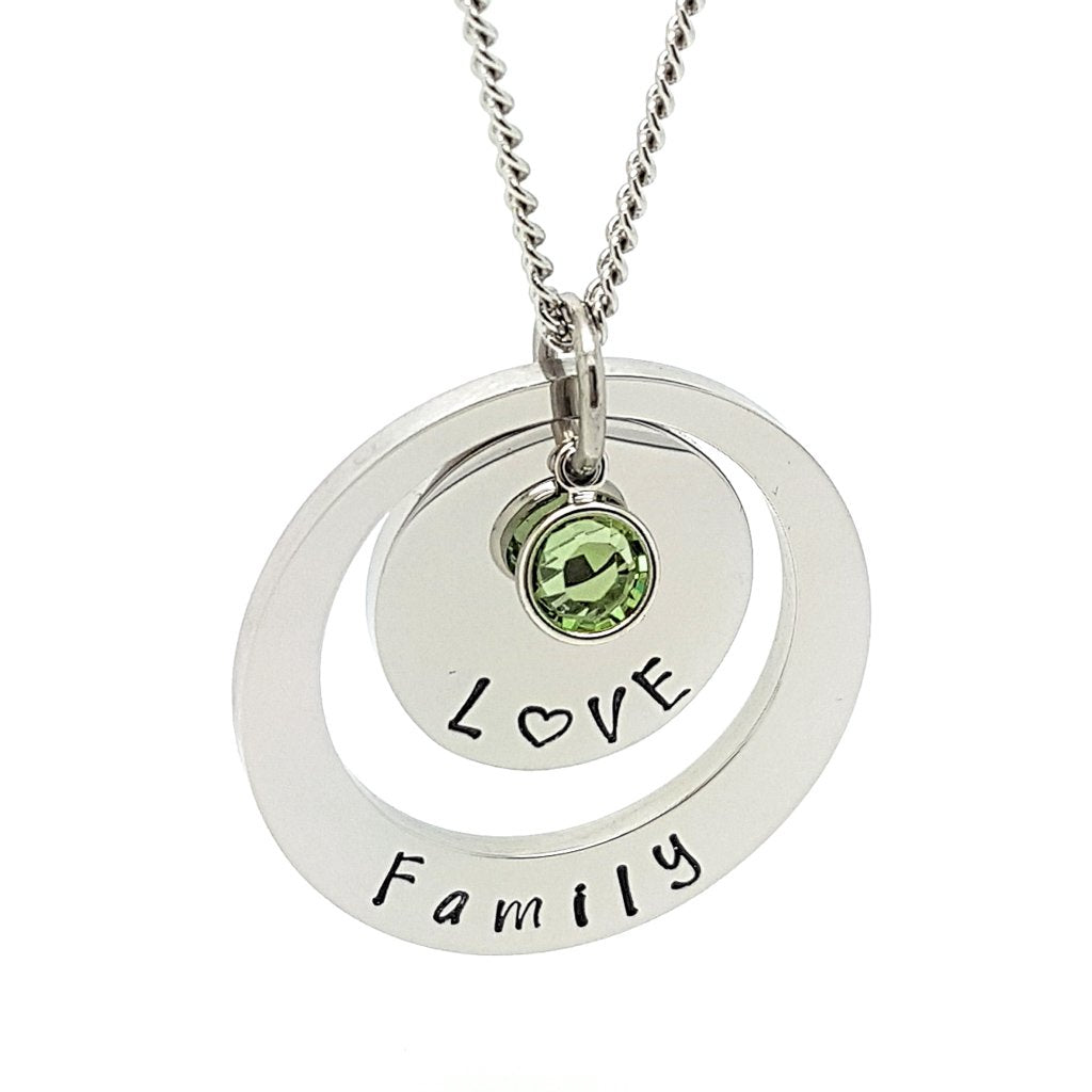 Coorabell Crafts Layered Birthstone Necklace