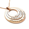 Layered Custom Names Family Oval Pendant