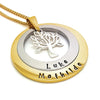 Layered Family Names Tree Pendant