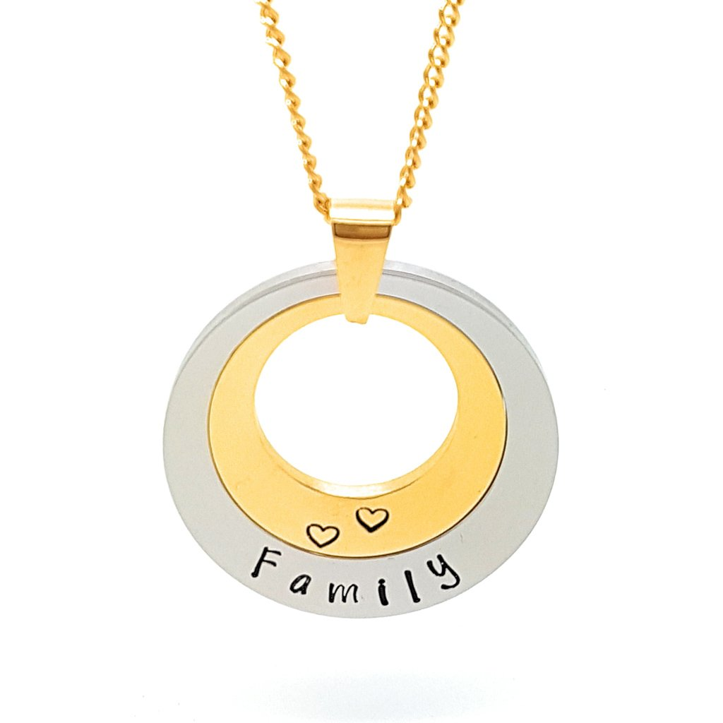 Coorabell Crafts Layered Family Necklace Personalised