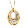 Layered Multi Tone Personalised Necklace