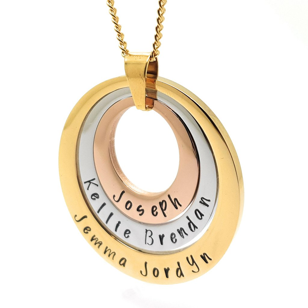 Coorabell Crafts Layered Personalised Mother Necklace
