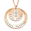 Layered Personalised Pendant Family Necklace