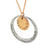 Coorabell Crafts Layered Two-tone Two disk Pendant