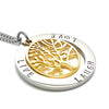 Live Laugh Love Pendant Gold Tree