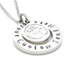 OM Charm Personaised Circle Necklace