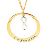 Oval Gold Pendant with Infinity Charm