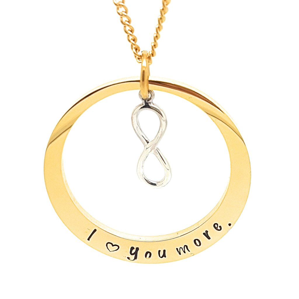 Coorabell Crafts Oval Gold Pendant with Infinity Charm