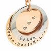 Personalised Pendant Two ring Necklace