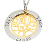 Personalised Pendant with Gold Tree