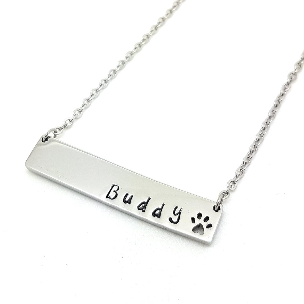 Coorabell Crafts Pet Loss Gift Bar Pendant Personalised