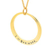 Plain Oval Gold Personalised Necklace