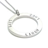 Plain Silver Inscribed Necklace